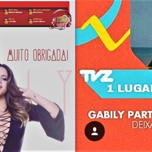 Gabily é Top 10 FM O Dia e TVZ — U.M. Music